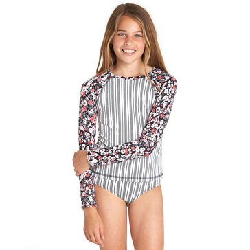 Billabong Little Girls' Ditsy Soul Rashguard Swim Set