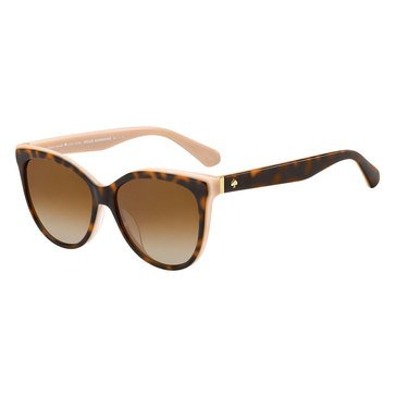 Kate Spade Women's Sunglasses, Havana Pink/Brown Gradient Polarized 56mm