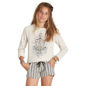 Billabong Big Girls' Whole Hearted French Terry Top