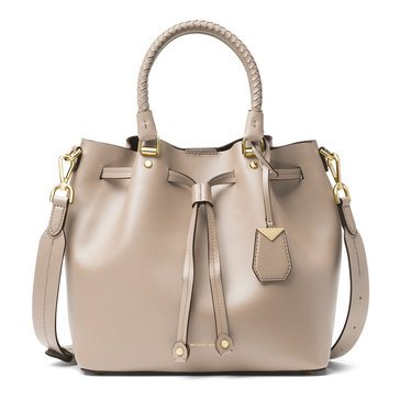 Michael Kors Blakely Medium Bucket Bag Leather Oat
