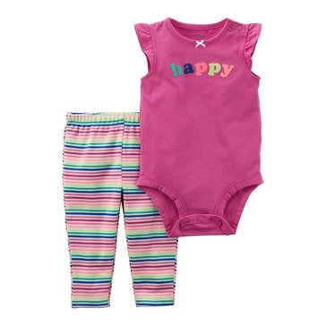 Carter's Baby Girls' Bodysuit Pant Set