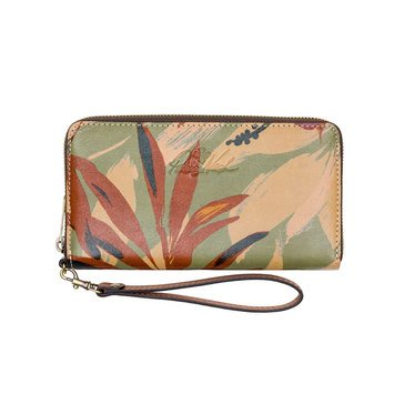 Patricia Nash Elsa Organizer Clutch with Phone Palm Leaves