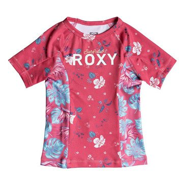 Roxy Little Girls' Simply Roxy Big Girls'Rashgaurd