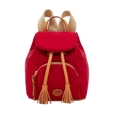 Dooney and Bourke Nylon Small Backpack  Red