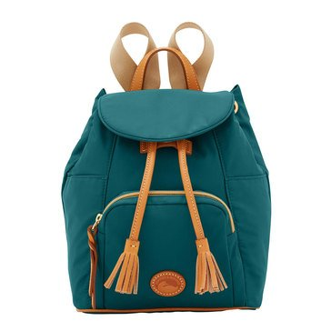 Dooney and Bourke Nylon Small Backpack   Leaf