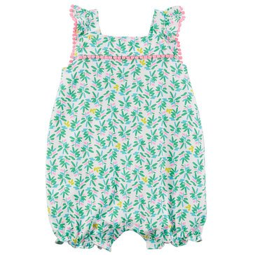 Carter's Baby Girls' 1-Piece Tropical Print Romper