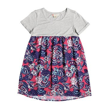 Roxy Big Girls' Branche Of Lilac Woven Dress