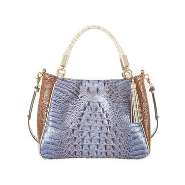 Brahmin Ruby Shoulder Bag Washed Indigo Ipanema