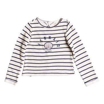 Roxy Big Girls' Heart And Soul Stripe French Terry Crew