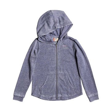 Roxy Big Girls' Teasing You Palm Tree French Terry Zip Hoodie
