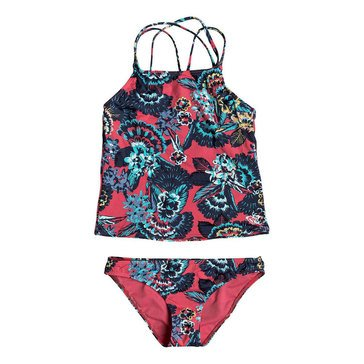 Roxy Big Girls' 2-Piece Let The Surf Tankini Swimsuit