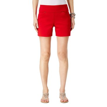 I.N.C. International Concepts Women's Women's Bengaline Regular  Fit Shorts In Read Red