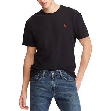 Polo Ralph Lauren Short Sleeve Crew Neck Pocketed Tee in Black