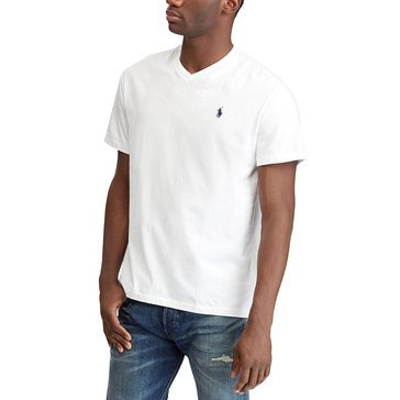 Polo Ralph Lauren Short Sleeve V-Neck Tee in White