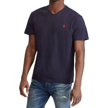 Polo Ralph Lauren Short Sleeve V-Neck Tee in Navy