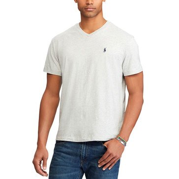 Polo Ralph Lauren Short Sleeve V-Neck Tee in Grey