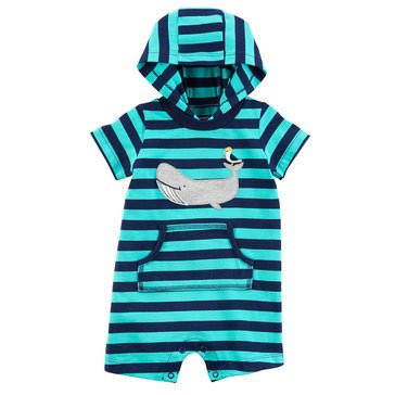 Carter's Baby Boys' 1-Piece Stripe Whale Jumpsuit