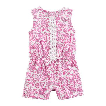 Carter's Baby Girls' 1-Piece Purple Print Lace Romper