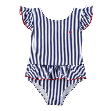 Carter's Baby Girls' 1-Piece Americana Stripe Swimsuit