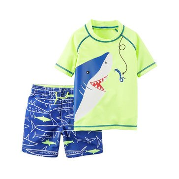 Carter's Baby Boys' 2-Piece Shark Swimsuit Set