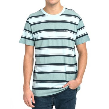 RVCA Men's Striped Short Sleeve Tee in Blue