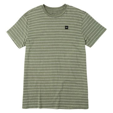 Rvca Men's Washout Short Sleeve Striped Crew Knit Tee