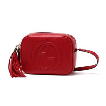 Gucci Soho Small Leather Disco Bag Red