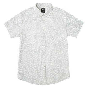 Rvca Men's Cleta All Over Printed Woven Button Down Shirt