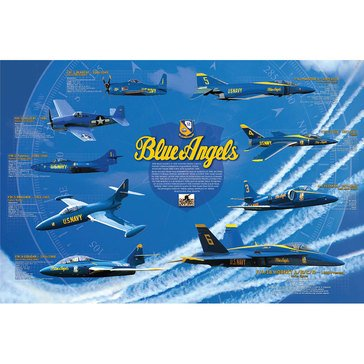 Wow Toyz History Of The Blue Angels Poster-Non Lamented Rolled & Sleeved