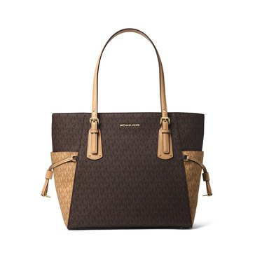 Michael Kors Voyager East West Signature Tote Brown/ Butternut
