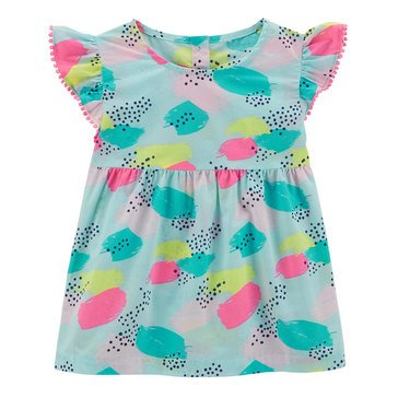 Carter's Little Girls' Sleeveless Babydoll Top, Print