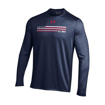 Under Armour Men's  Navy Tech Tee with USN