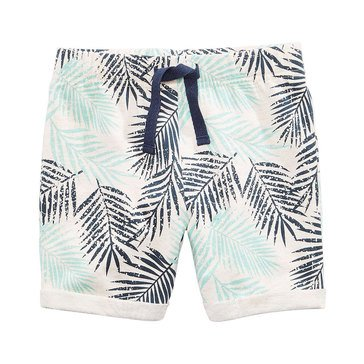 First Impression Baby Boys' Tropical Print Shorts, Heather Dune