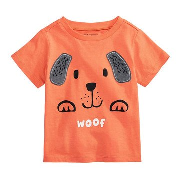 First Impression Baby Boys' Woof Tee, Sherbet