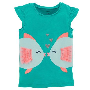 Carter's Toddler Girls' Fish Tee