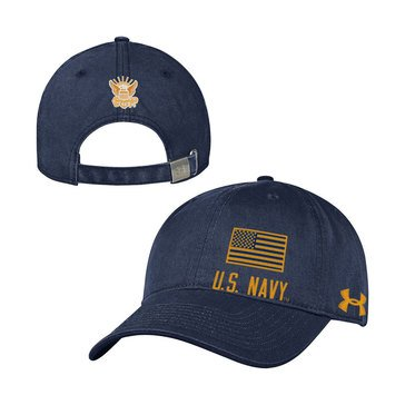 Under Armour Men's Garment Washed Hat  With Flag & Eagle