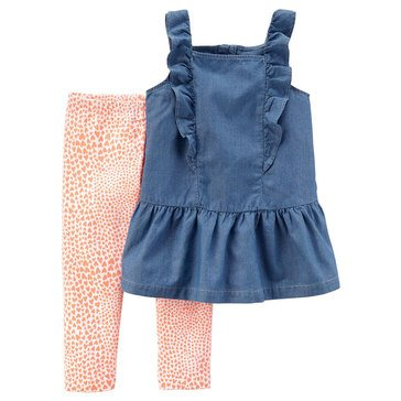 Carter's Little Girls' 2-Piece Chambray Legging Set