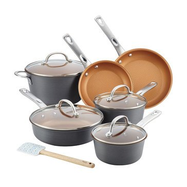 Ayesha Curry Home Collection 11-Piece Hard Anodized Aluminum Cookware Set