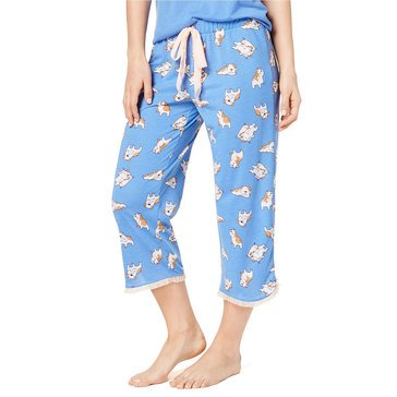 Jenni Women's Dog Printed Cropped PJ Pants