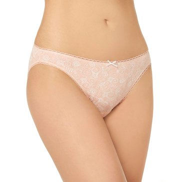Charter Club Women's Embroidered Flower Cotton Bikini Panties