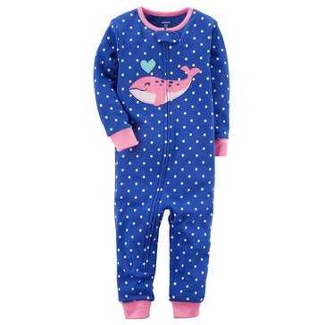 Carter's Girls' Whale Footless Pajamas