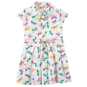 Carter's Little Girls' Butterfly Woven Dress