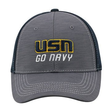 Top Of The World  Upright Flex Hat With USN 'G0 Navy' Design