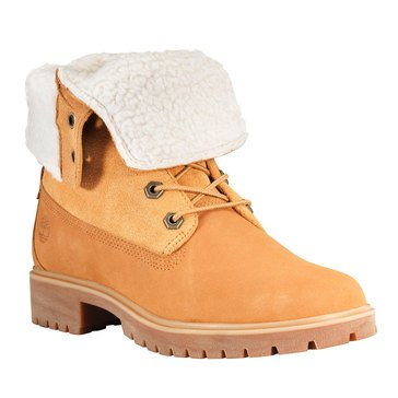 Timberland Jayne Waterproof Teddy Fleece Fold Down Wheat