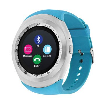 iTouch Unisex Curve Silver Turquoise Strap Watch