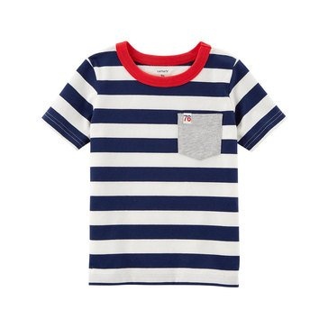 Carter's Little Boy's Navy White Stripe Tee