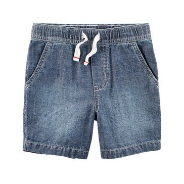 Carter's Little Boy's Chambray Pull On Shorts
