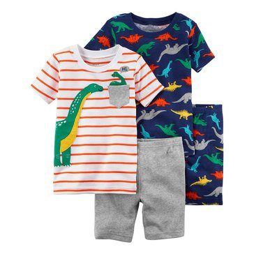 Carter's Toddler Boy's 4-Piece Multi Dino Print Sleep Wear Set