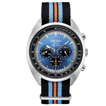 Seiko Men's Recraft Chronograph Nylon Strap Watch, 43.5mm