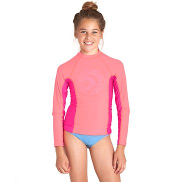 Billabong Big Girls' Surf Dayz Rashguard, Sunkissed Coral